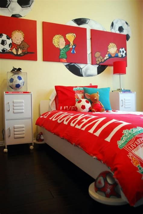 kids soccer bedroom ideas