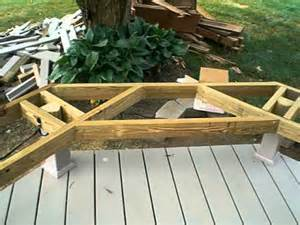 Free Wood Deck Bench Plans by Framing For A Deck Bench Youtube