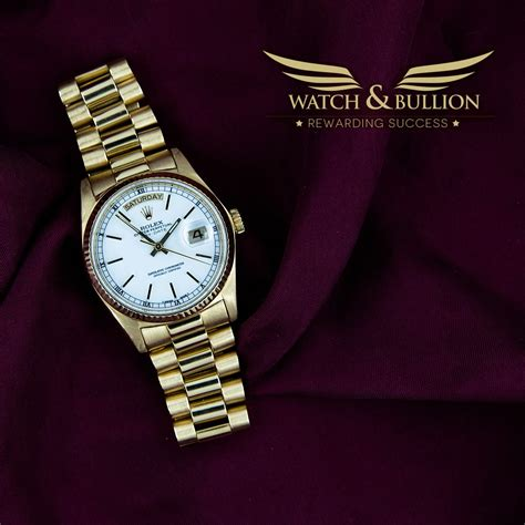 rolex day date president and bullion