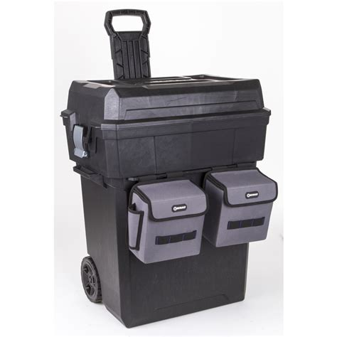 plastic rolling tool box shop kobalt zerust 19 in plastic lockable wheeled tool box