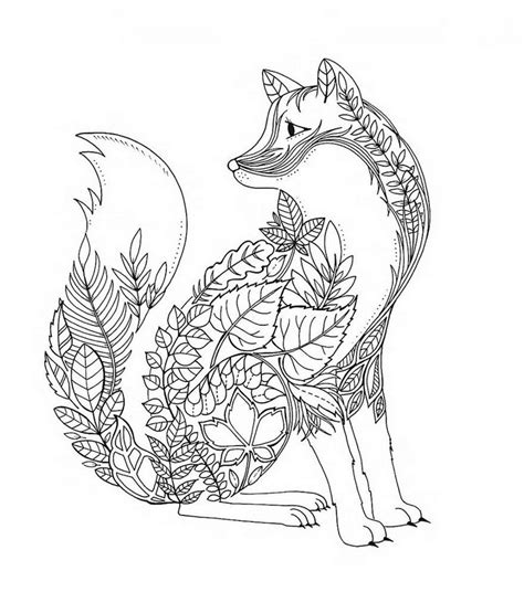 fox mandala coloring page fox coloring pages for adults google search coloring