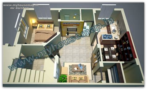 modern 3d ground floor house plans