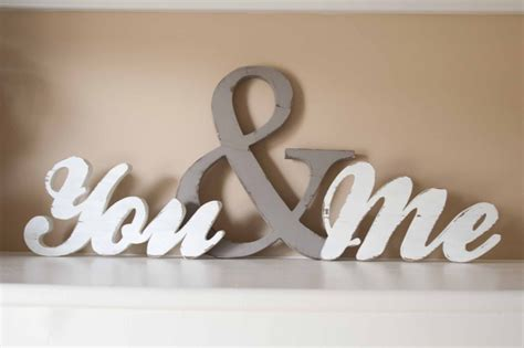 you and me you and me wood word sign you me home decor