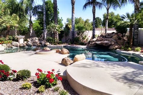 residential landscape design in arizona valley view