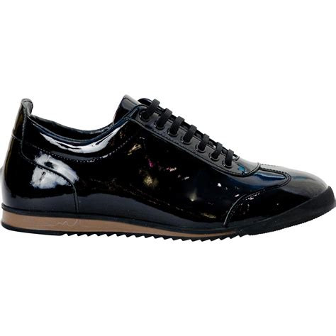 mens black patent leather sneakers bronson black patent leather low top sneakers paolo shoes