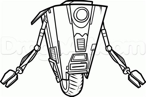 how to draw claptrap step by step video game characters