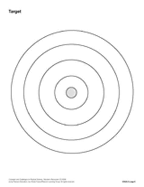 Bullseye Chart Template by Blank Target Printable Chemistry Teachervision