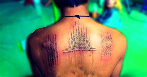 sak yant tattoo in bali sak yant bamboo tattoo experience bangkok rtw backpackers