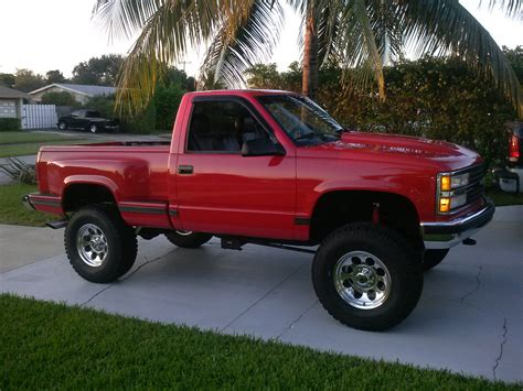 chevy lifted 1990 chevy 4x4 truck stepside lifted chevrolet