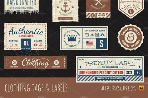 clothing tag labels objects creative market