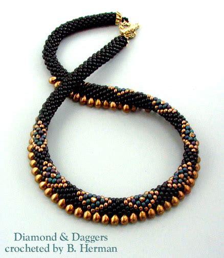 crochet beaded necklace bead crochet necklaces
