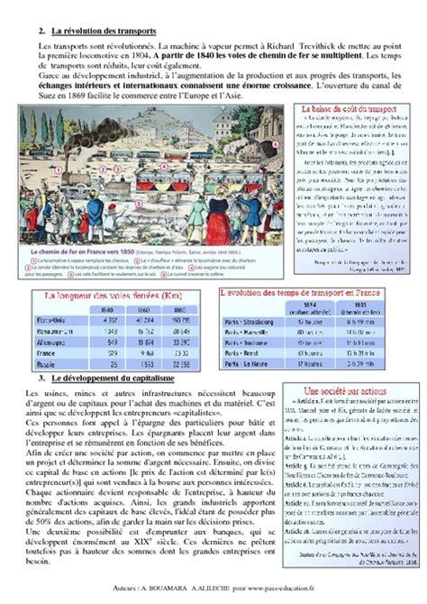 Resume Revolution Industrielle by Resume Sur La Revolution Industrielle