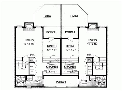 2 Story Duplex Plans Joy Studio Design Gallery Best Design Two Storey Duplex House Plans