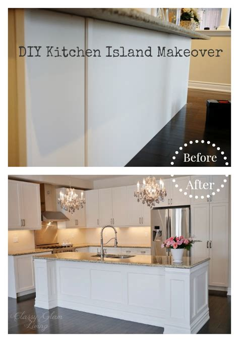Diy Kitchen Island Makeover Classy Glam Living Make A Kitchen Island From Stock Cabinets