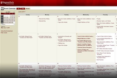 Virginia Tech Academic Calendar Virginia Tech Calendars News Virginia Tech