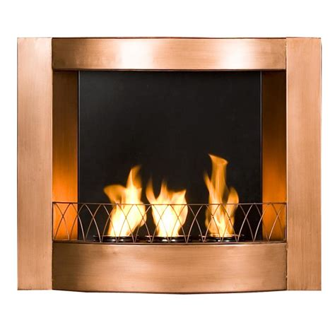 Gel Burning Fireplaces by Sei Copper Wall Mountable Gel Fuel Fireplace