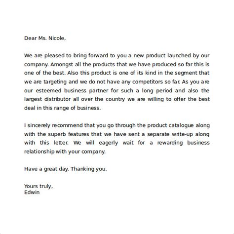 Business Letter Writing Words Sle Professional Business Letter 6 Documents In Pdf Word