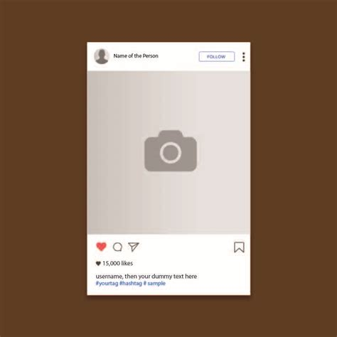 instagram layout vector free download instagram ui screen template design free vector download