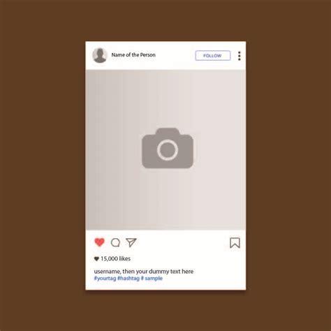 Instagram Card Template by Instagram Ui Screen Template Design Free Vector