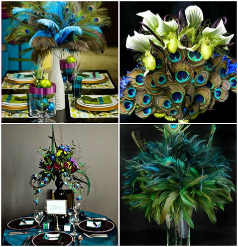 peacock themed decoration ideas memorable wedding are peacock wedding feathers right for