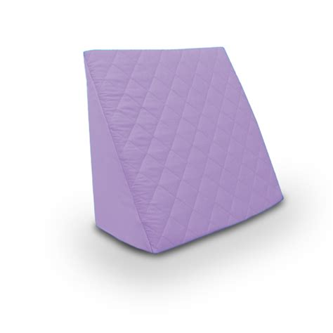 angled bed pillow lilac reclining quilted orthopaedic bed wedge back support