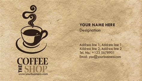 coffee shop card design photoshop coffee business cards design