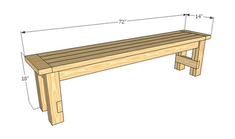 bench drawings ana white farmhouse bench diy projects