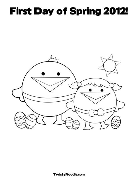 free first day of spring coloring pages