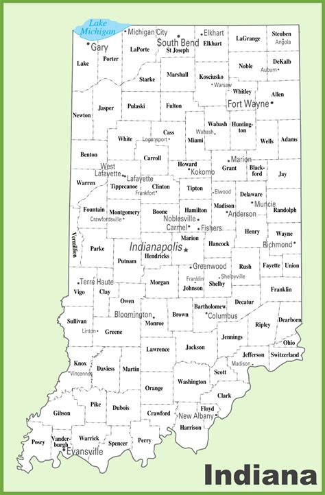 map of indiana counties indiana county map indiana map