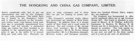 hongkong  china gas company  information