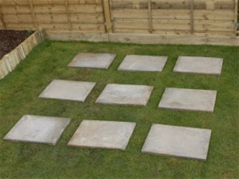 dalama    build  shed base  paving slabs