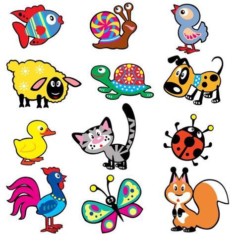 imagenes vectores infantiles animalitos estilo dibujo infantil en imagen normal y en