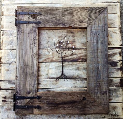Kitchen Towel Rack Ideas by Rustic Barn Wood Frame With Vintage Rustic Hinges Menas