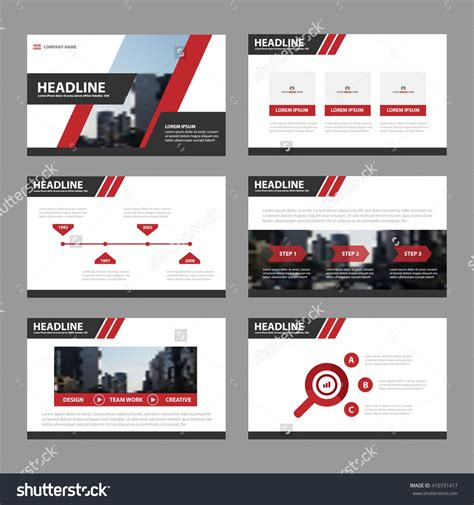elements of layout in advertising red black presentation templates infographic elements flat