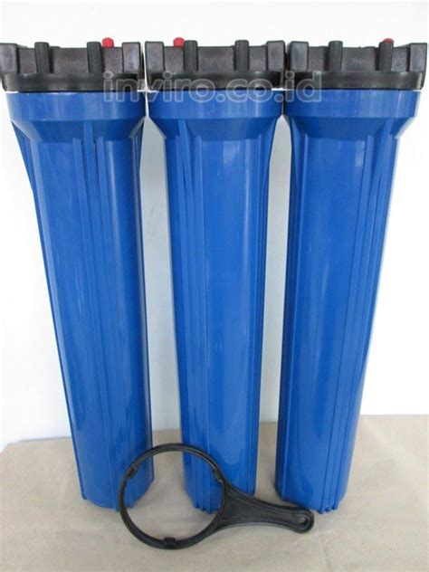 Housing Filter Air 20 Drat 1 housing filter ukuran 20 quot warna biru drat kuningan taiwan