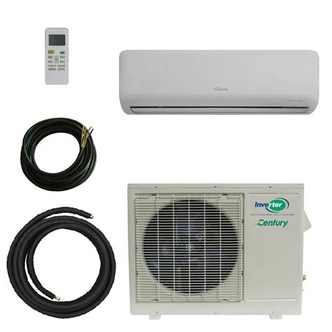 single zone ductless heating and century vmh 9 000 btu cooling and heating single zone ductless mini splits system with 50 ft