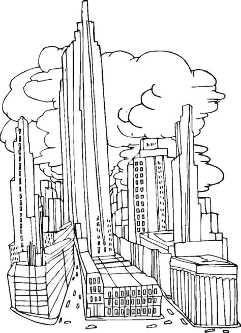 new york skyline outline coloring pages