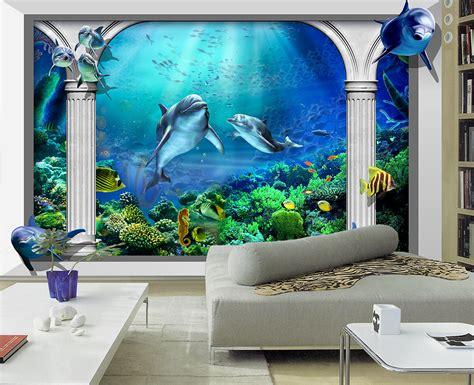 Underwater Wall Stickers papier peint trompe l oeil effet 3d personnalis 233 wallpaper
