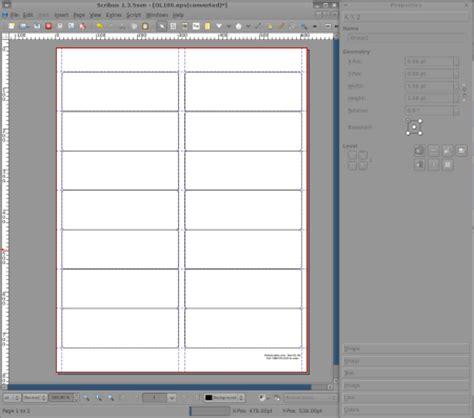 Free Desktop Publishing With Scribus Open Source Worldlabel Blog Free Scribus Templates
