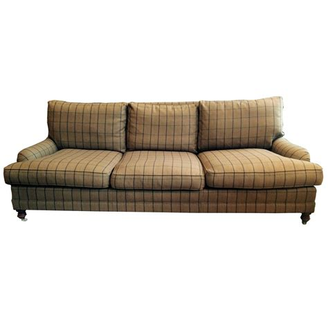 ralph lauren couches traditional camel plaid wool ralph lauren sofa at 1stdibs