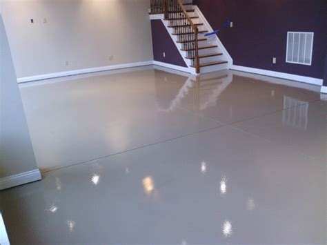 basement floor treatments basement floor 2 modern basement cincinnati by bluegrass elite crete