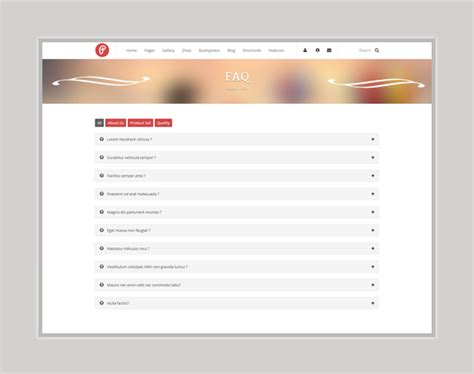 faq template responsive wedding event template by lucky512