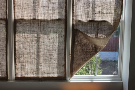burlap window blinds the shingled house burlap window shades