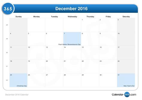 Show Me My Calendar December 2016 Calendar