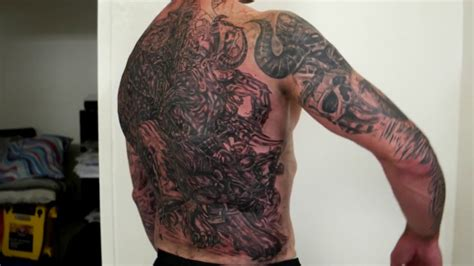 back tattoo epic inky s epic viking battle back tattoo by fluntboy in 4k