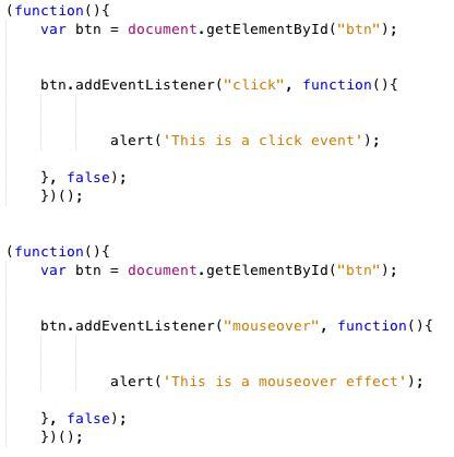 Javascript Tutorial Event Listener | javascript add multiple event handlers phpsourcecode net