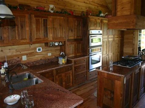 Rustic Birch Kitchen Cabinets - rustic barn wood kitchen cabinets distressed country design