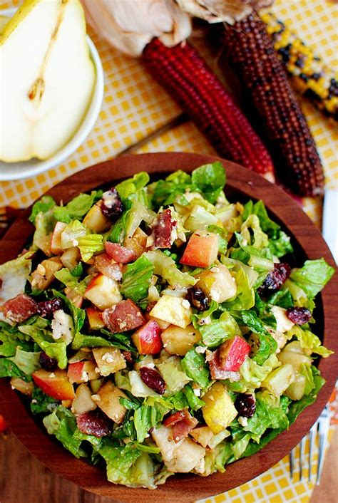 autumn chopped salad recipe recipes pinterest