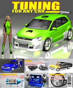 template tuning tuning for any car 3d models apcgraficos