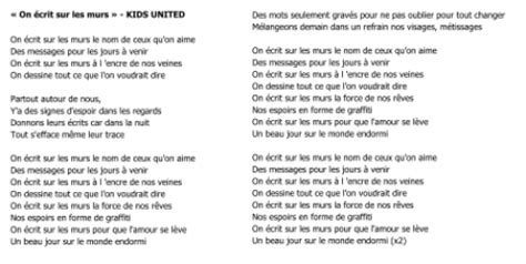 testo on united on 233 crit sur les murs education musicale